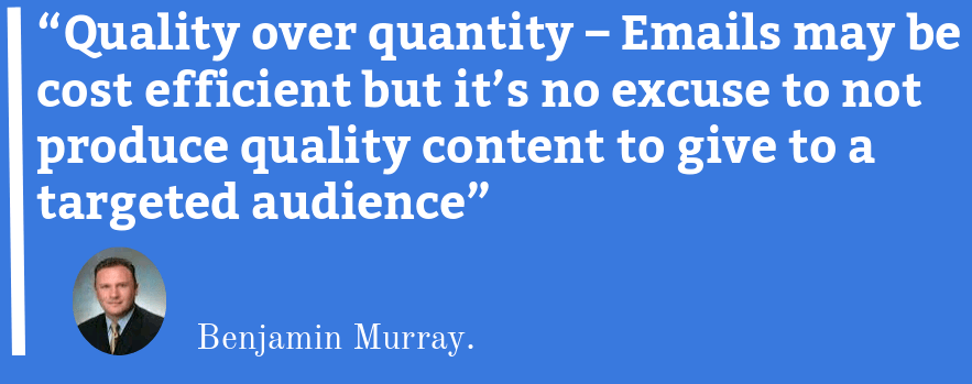 email marketing quote by famous author