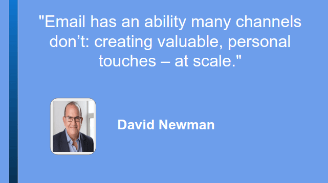 Email marketing Quote by David Newman