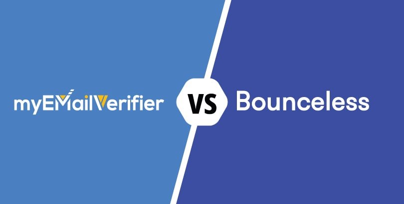 , COMPARISON: Myemailverifier.com – Bounceless.io