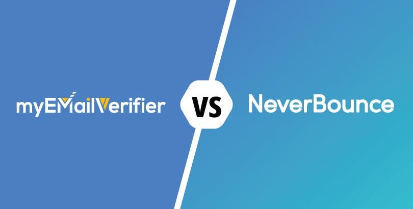 , COMPARISON: Myemailverifier.com – Neverbounce.com