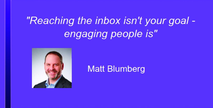 Email marketing quote by Matt