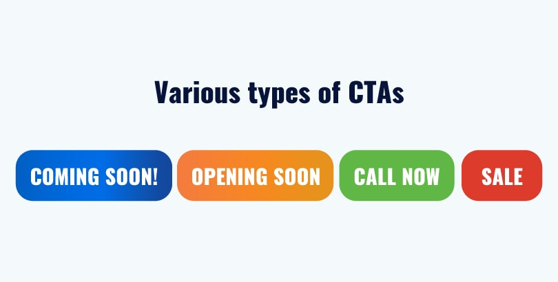 Various types of CTA