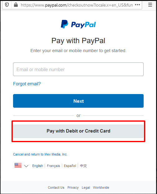 Use payment option